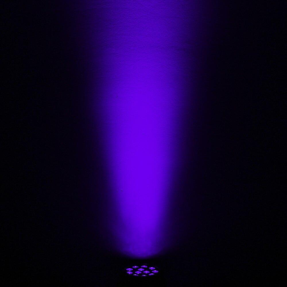 Купить с кэшбэком 36W 12 LEDs mini par Sound Active UV Led Stage Parcan Ultraviolet Led Spotligh Lamp for Disco DJ Projector Party mini par light