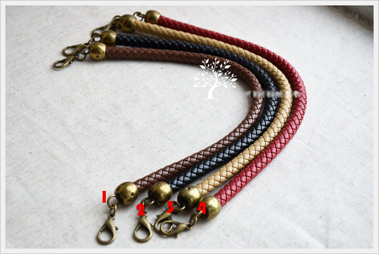 colorful 36cm/56cm Pu knitted leather strap for purse  handle for handbags 5pcs/lot colorful pu leather strap for bag accessories handle with metal clasp for diy purse 10pcs lot