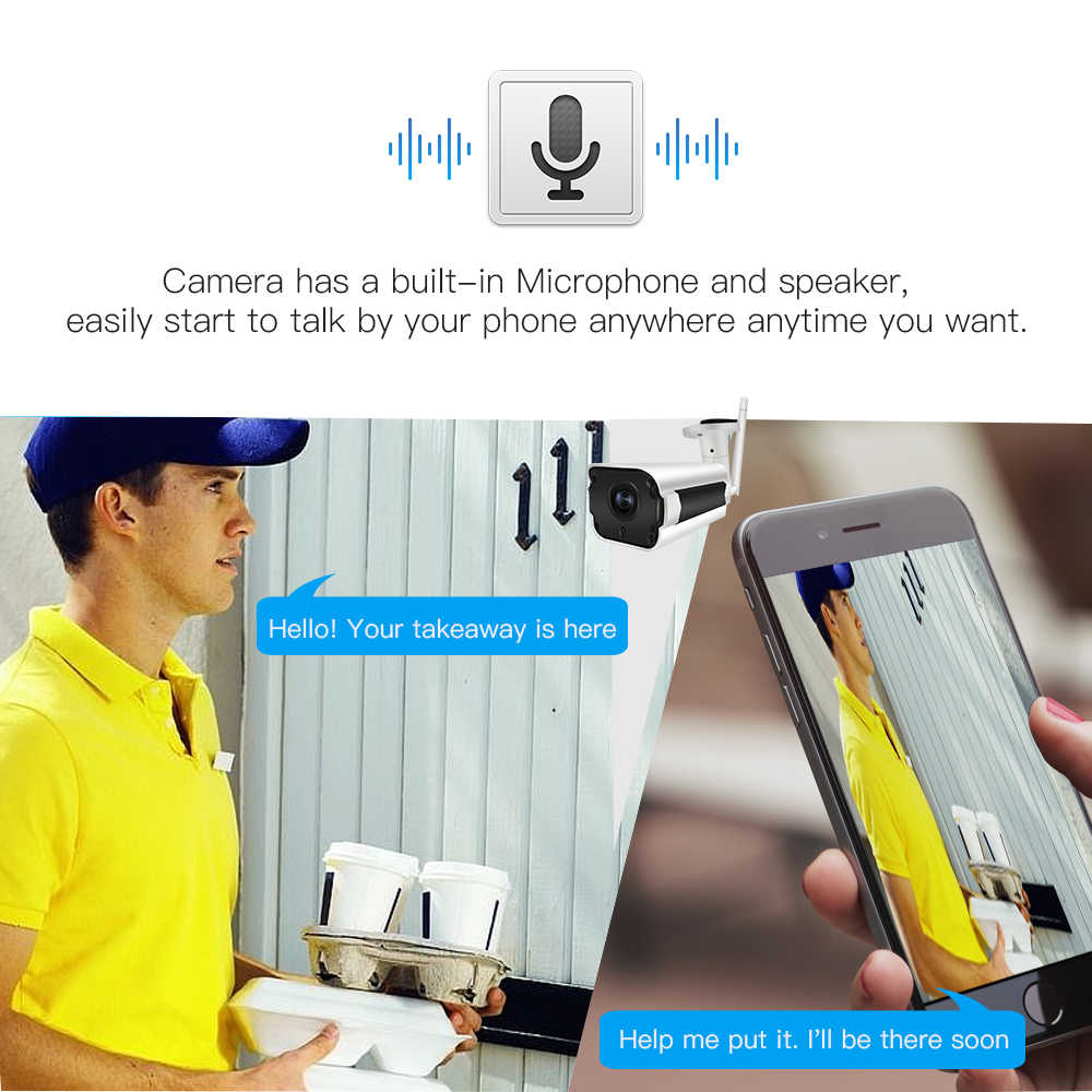 SDETER 1080 P 720 P IP Камера Wi-Fi Беспроводной видеонаблюдения Пуля Открытый Водонепроницаемый Ночное видение ИК ONVIF P2P безопасности Камера двухстороннее аудио