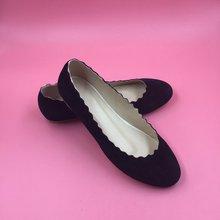 Schwarz Flache Frauen Schuhe 2016 Günstige Modest Chaussure Homme Damen Schuhe Heißer Verkauf Sapatos Feminino Echt Iamge Partei Schuhe Billig