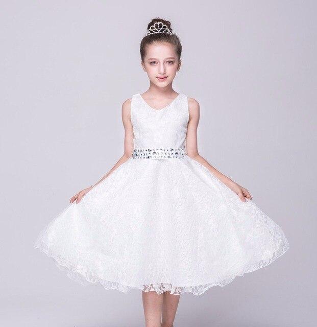 5a8a21a7a Dresses for girls 2018 summer high-end wedding dress 3 4 6 8 10 12T print baby  girl dress party lace dress vestido infantil