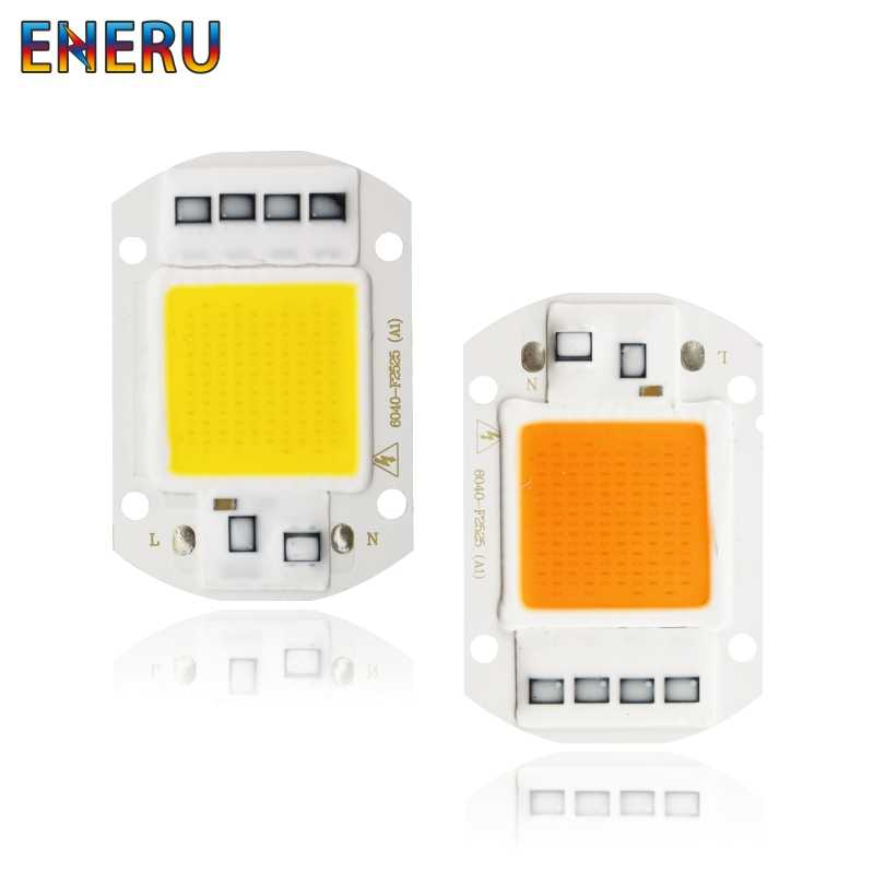 Led Cob Chip 10w 20w 30w 50w 220V Grow Light Chip Full Spectrum for Indoor Plant Seedling Grow and Flower Cold White Warm White