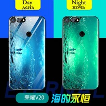 Luminous Glass Phone Case For Huawei Honor View V30 V20 V10 210 Lite 9A 30S Luxury back cover For Honor 20 8X 7X 9X 8C PLAY case aurora luminous phone case for huawei honor view v30 v20 v10 night shine bcak cover for honor v30 dazzle colour glass case coque