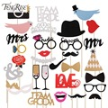 FENGRISE Mr Mrs Just Married Funny Photo Booth Props Bride Groom Sparkling Wedding Decoration Bridal Shower Event Party Supplies