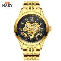 2018 Latest Automatic Mechanical Watch Waterproof Men Skeleton Men S Stainless Steel Watch Well Known Brand