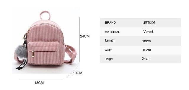 Cute velvet Backpack For Teenagers Children Mini Back Pack Kawaii Girls Kids Small Backpacks female Packbags Fur ball school bag (12)
