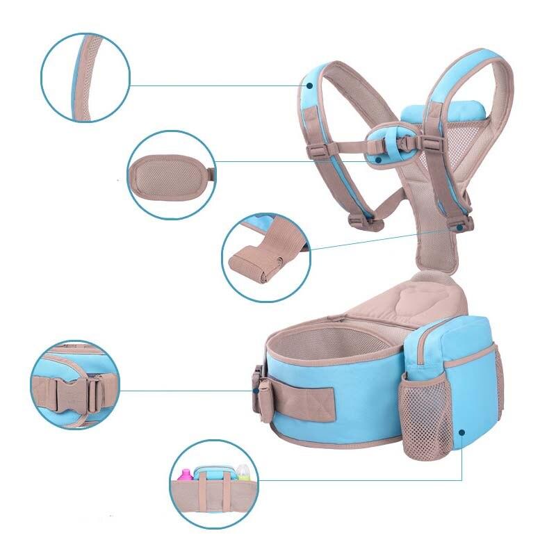 3-36 mois écharpe de portage pour bébé ergonomique avec Hipseat sac à dos en coton pour bébé