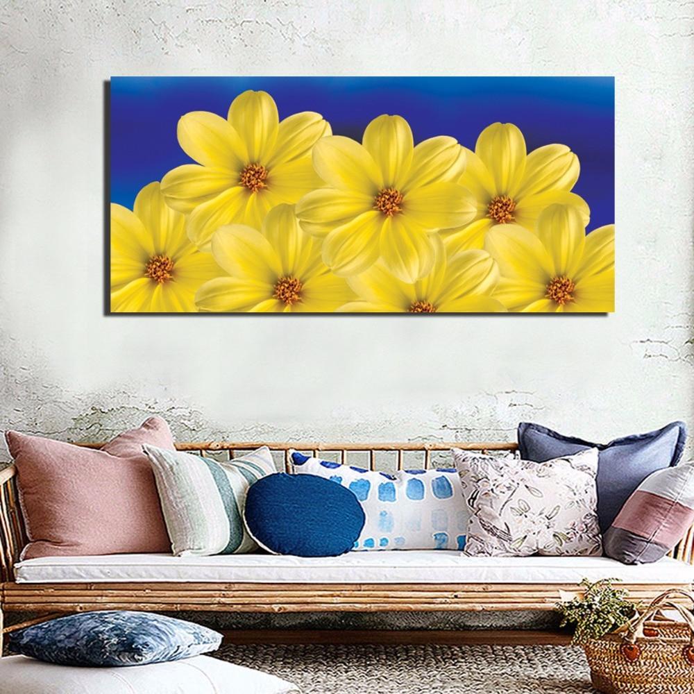 Minimalist Blossom Flower Posters Scandinavian Chrysanthemum Canvas ...