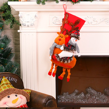 Cute Deer Stockings and Bags As Christmas Tree Pendant and Gifts for Kids  Winter Decorations Santa 6e20f61c614c