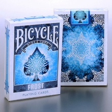 Bicycle Frost Deck Playing Cards Magic Cards Magic Props Poker Close Up Stage Magic Tricks for Professional Magician Free Ship