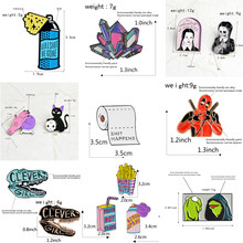 1 PC Metal Brooch Collar Pins Brooches Jeans Shirt Handbag Alloy Badges on Backpack Clothes Cartoon Pin(China)