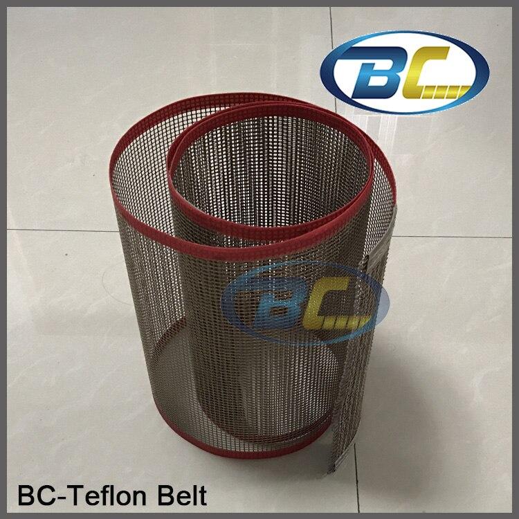 Qualidade Transportadora Teflon Cinto Net Resistência Térmica para o Processamento De Alimentos, Máquina de impressão, Cinto de Tecido De teflon