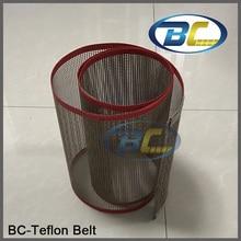 Качество конвейер тефлон пояс сети Термальность сопротивление для Еда обработки, печатная машина, пояс тефлоновые ткани