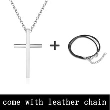 Personalized Engraved Name Pendant Necklace Stainless Steel Unisex Fashion Cross Necklaces & Pendants