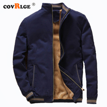 Covrlge Men Jacket 2019 Mens Autumn Winner Threaded  Cuff Warm Coat Comfortable Thick Asian Size 4XL MWJ145