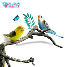 Simulering Parrot Toy ~ Skog Animal Model Doll Zoo PVC Figur Plast Leksaker Heminredning ornament dekoration Set Gift for Kids