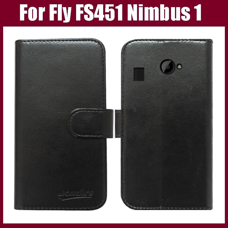 Pouzdro Fly FS451 Nimbus 1, vysoce kvalitní módní peněženka stojan Flip Leather Cover pro pouzdro telefonu Fly FS451 Nimbus 1 na skladě.