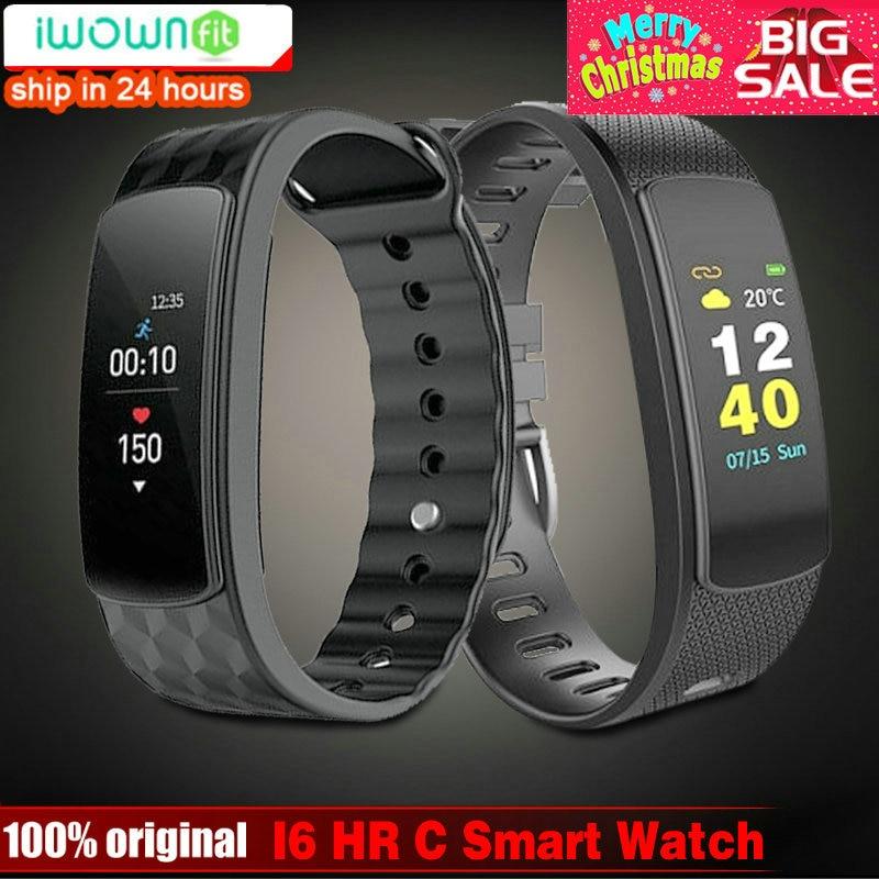 IWOWN I6 H C banda inteligente pantalla a Color de Monitor de ritmo cardíaco pulsera inteligente deporte pulsera banda inteligente rastreador de Fitness del mi banda 1 s