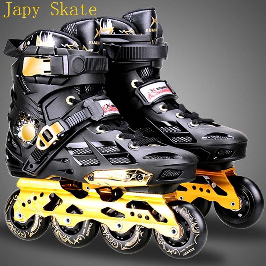 Japy Skate Mars Inline Skates Professional Slalom Adult Roller Skating Shoes Sliding Free Skating Good As SEBA Patines Adulto 8pcs 88a inline skate wheels with ilq 11 bearing 80mm braking slalom free skating sliding roller for seba patines tires japy