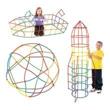 Baba Puzzle Prajita 100db / 200db Gyermek Puzzle Szalma Blokkok Pipetta Fűzés Összeszerelés Szalma Build Blokkok Kreatív Játék
