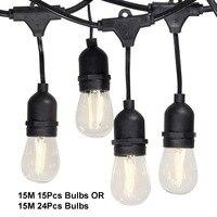 Venta Resistente al agua 15M 15 piezas 15 M 24 piezas bombillas LED Luz de interior al
