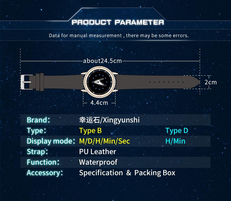 STAR TREK Models Spock Starfleet Spock LED waterproof touch screen watch hot tv series Christmas Gift 15
