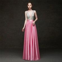 Erosebridal 2019 Akşam Elbise Uzun Parti Elbise Zarif Resmi Elbiseler gece elbisesi Kadınlar için Pembe/Kırmızı/Siyah/Mavi /yeşil/Sarı