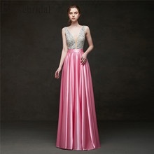 Erosebridal 2019 Evening Dress Long Party Dress Elegant Formal Dresses Evening Gown for Women Pink/Red/Black/Blue/Green/Yellow