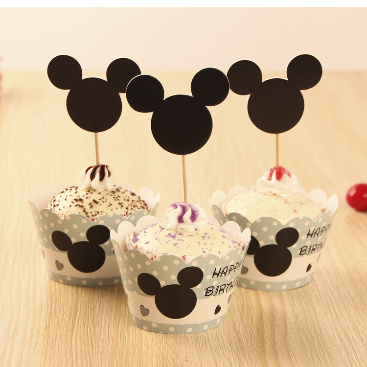 Mickey Mouse Theme Party Series 12pcs Cupcake Wrapper 12pcs