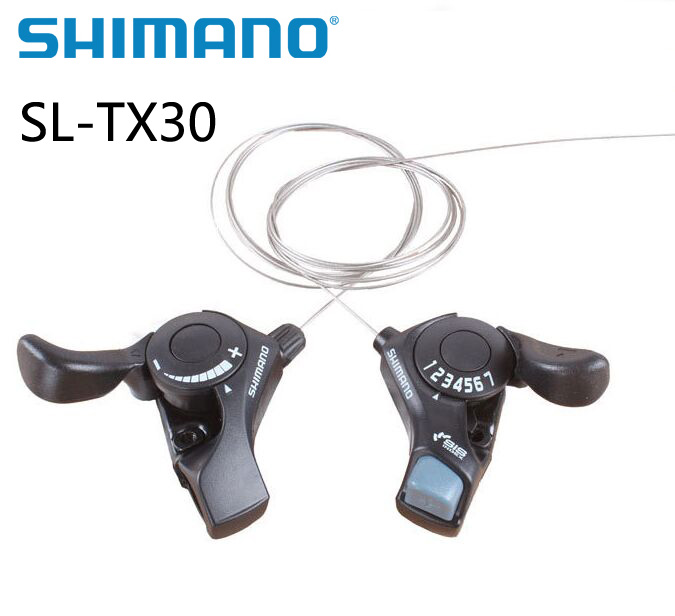 SHIMANO Tourney Shifters Shift Levers SL-TX30 3x7S Black
