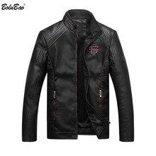 Мужская кожаная замшевая куртка Bolubao, модная Осенняя мотоциклетная мужская зимняя куртка-бомбер из искусственной кожи, верхняя одежда, пальто из искусственной кожи