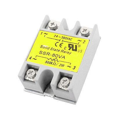 SSR-80VA AC 24-380V Metal Base Single Phase Adjustable Solid Module State Relay high quality ac ac 80 250v 24 380v 60a 4 screw terminal 1 phase solid state relay w heatsink