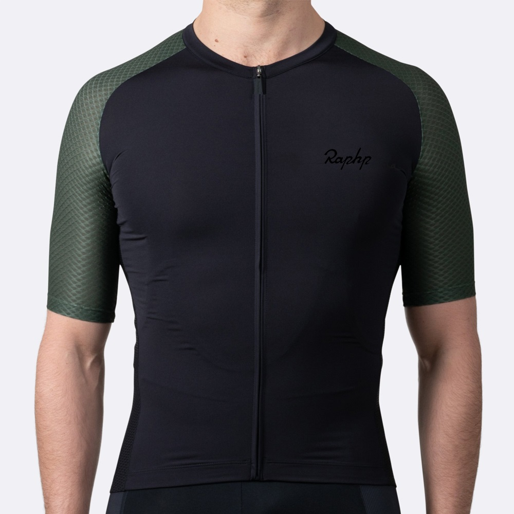 RCC RAPHP Summer Short Sleeve Cycling Jersey Tops Ropa De Ciclismo Hombre Road Bike Clothing MTB Bicycle Clothes Cycle Wear