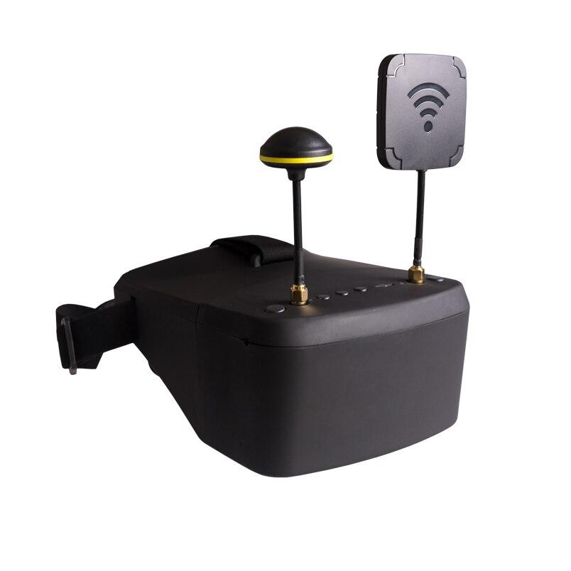 LS-800D FPV gafas 5,8g 40CH 5 pulgadas 854*480 Video Headset HD DVR diversidad con 2000 mAh batería para RC modelo