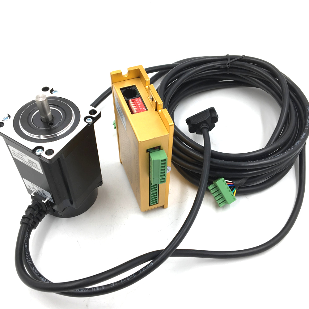 3 Phase NEMA23 1Nm Hybird Closed-Loop Stepper Motor Drive Kit 20~50VDC 3.5A 57mm CNC Engraving LC57H355+LCDA357H
