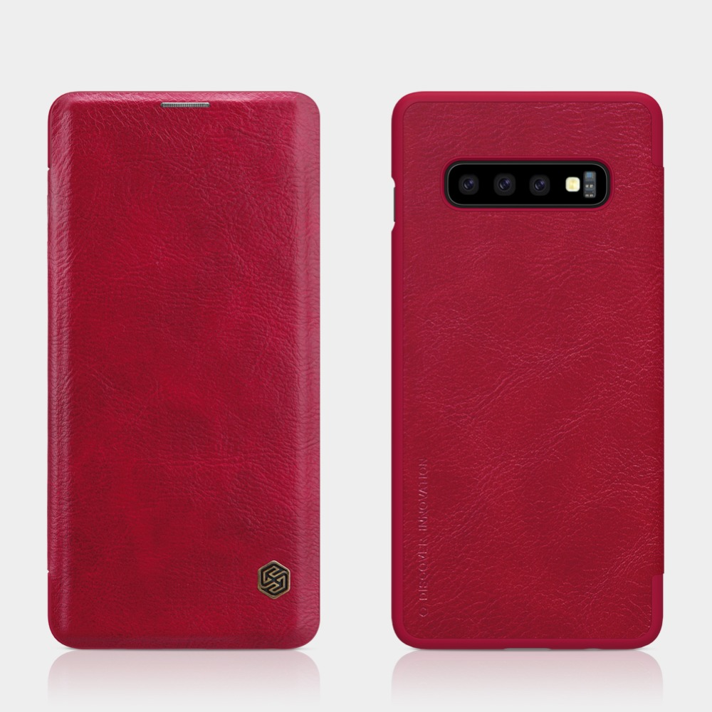 Case For Samsung Galaxy S10 Cover Qin Vintage Wallet Flip Cover Case Funda For Galaxy S10 E Flip PU Leather Case