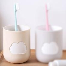 1x облако шаблон ванная комната большой рот чашка держатель для зубной щетки Пары прочный мыть зуб бутылка-термос экологически чистый материал