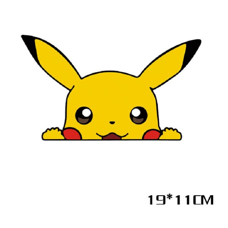 Image 3 - Car sticker Cute Pikachu pokemon figures Peeping Sticker Lovely Styling Car Accessories Motorcycle Sticker Pokemon Series Decals-in Car Stickers from Automobiles & Motorcycles