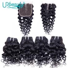 50 г/шт., волнистые пряди с закрытием, человеческие волосы, пряди со средней частью, натуральные волосы Remy для наращивания