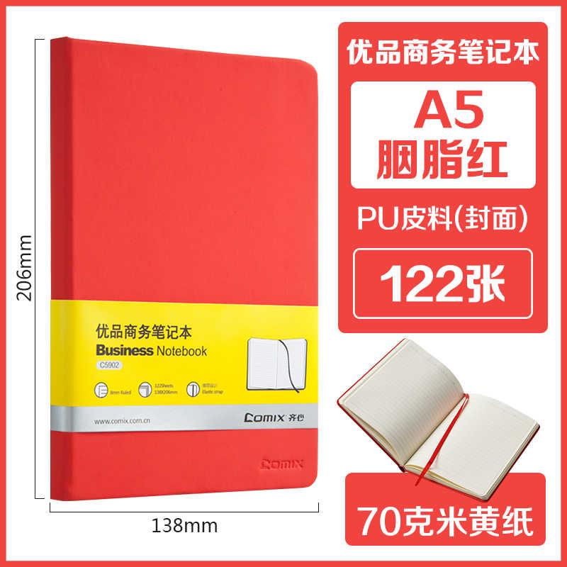 Cuaderno de 122 Hojas Espesado A5 Bloc de Notas de Cuero Suave Color Claro Portátil Diario Libro Escritura Almohadillas Planners Oficina Papelería