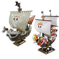 Brand new 28cm Anime One Piece Thousand Sunny & Meryl Boat Pirate Ship PVC Action Figure Toys Collectible Model Christmas gift