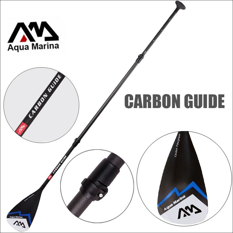 Руководство углерода AQUA MARINA fibergalss весло SUP стоячего доска для доски для серфинга регулируемый 180-210 см весло T ручка A03006