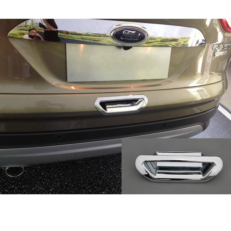 Car-Styling Car Accessories Rear Door Handle Bowl Door Decoration Bowl Cover Fit For Ford Escape Kuga 2013 2014 2015 Chrome 1Pc silver color roof rails rack luggage carrier bars for ford escape kuga 2013 2014 2015 2016 2017