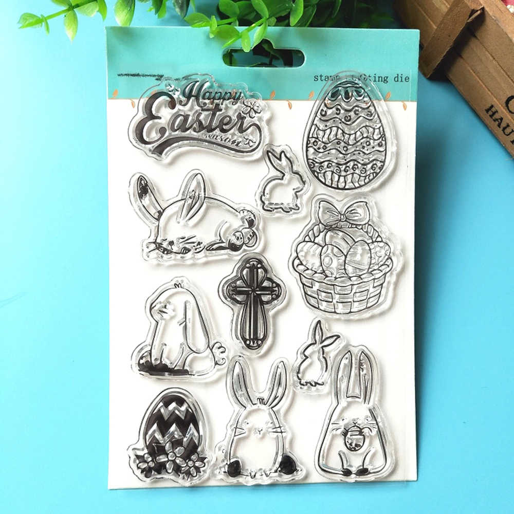 Cute Bunny Easter Scrapbooking Stamps Decor Frame Paper Craft Dies Cross Couples Wedding Party Embossing Cards Stencils Stamping