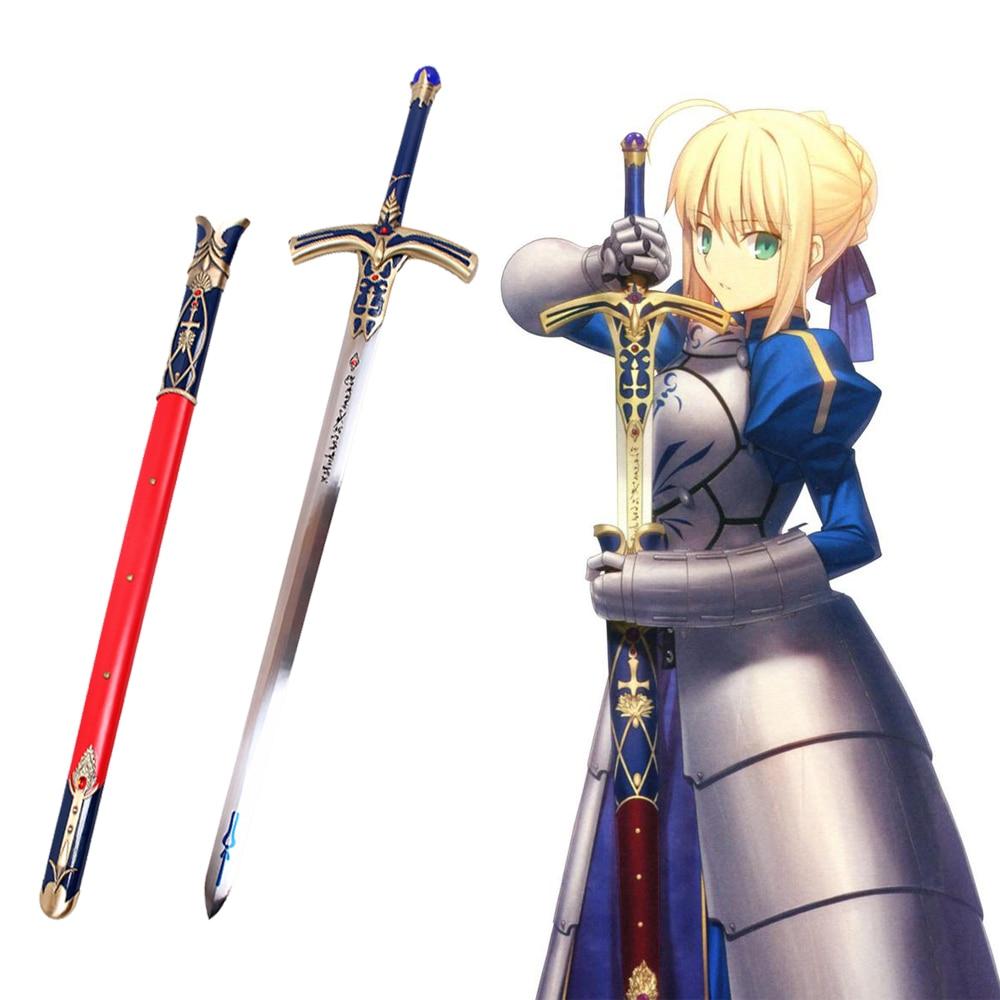 Судьба Ночь судьба Grand для Сабер Лили японская игра Аниме Косплэй стальной меч, обладающий сверхъестественной силой в камень