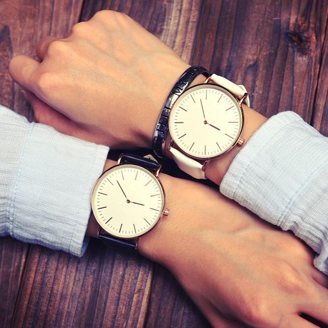 2017 New Top Brand Luxury Simple Ultra Thin Quartz Watch For Men/Women Wristwatch Leather Lovers Watch Relogio Masculino 2017 new simple luxury men s watch top brand zebra wood watch hand made wooden watch japanese quartz movement relogio masculino