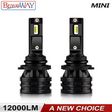 BraveWay LED Bulbs H4 H7 H11 H1 H8 H9 9005 9006 HB4 Car LED Headlight Bulbs Hi-Lo Beam 60W 12000LM 6500K Fog Light Bulb DC 12V(China)
