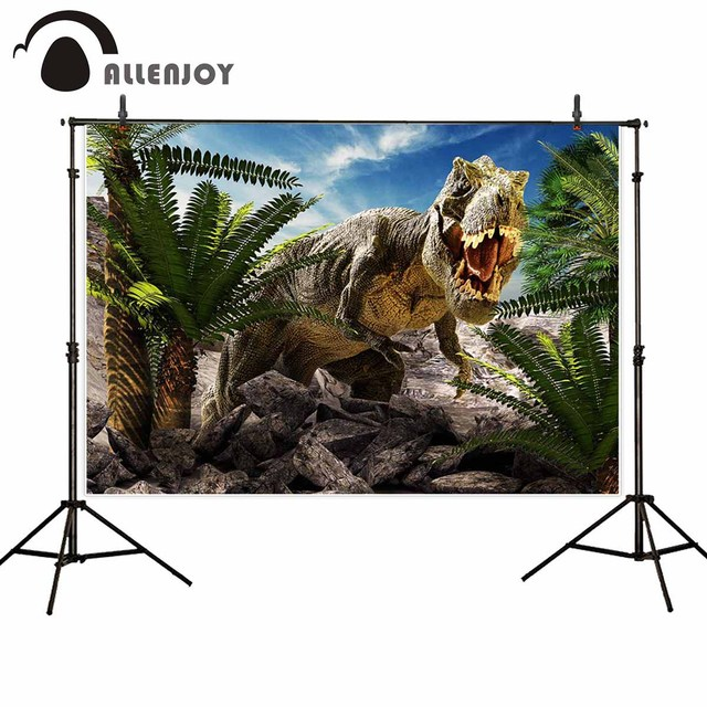 Allenjoy kids background for photography Jurassic giant dinosaur destroy park backdrop photo studio birthday party photocall