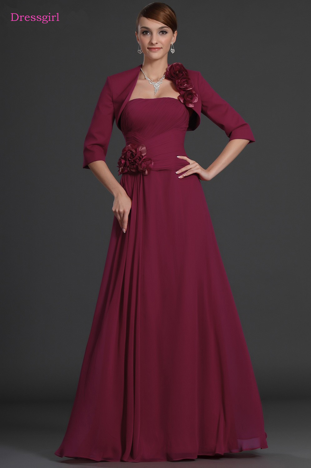 Burgundy 2019 Mother Of The Bride Dresses A Line Strapless Chiffon Flowers Plus Size Long Elegant Groom Mother Dresses Wedding Buy At The Price Of 78 00 In Aliexpress Com Imall Com,Wedding Guest White Lace Dress Styles In Ghana