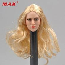 купить 1/6 scale blond hair female head sculpt KT004 model fit 12